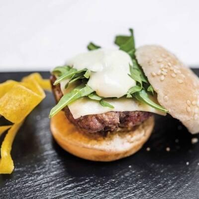 Mini burger de cebolla caramelizada