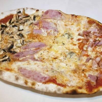Deliciosa pizza italiana a l'estil de la Fonda Suïssa