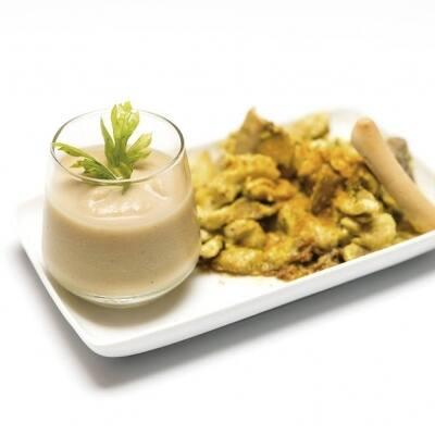 Vichyssoise de manzana con sorpresa al curry