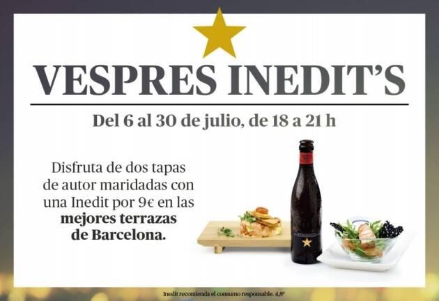 Vespres Inedits, cerveza, tapas, terrazas, Barcelona