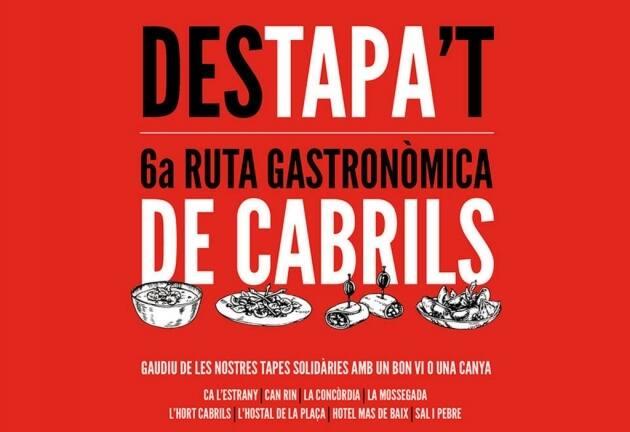 'Destapa't': arranca en Cabrils la 'Ruta Gastronòmica' más solidaria.
