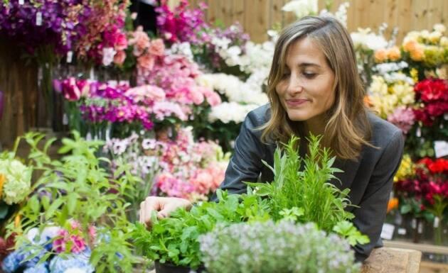 hierbas aromáticas y Magda Carlas