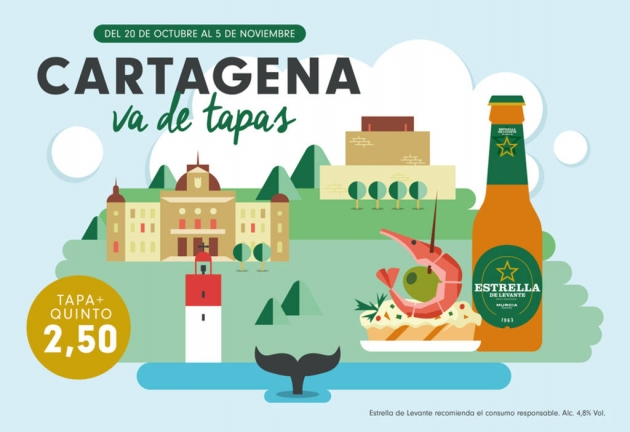 Cartagena va de tapas, tapas, tapeo, Murcia, rutas de tapas