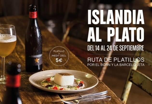 Islàndia al Plat, bacalao, menús con bacalao, Islandia, cerveza Inedit