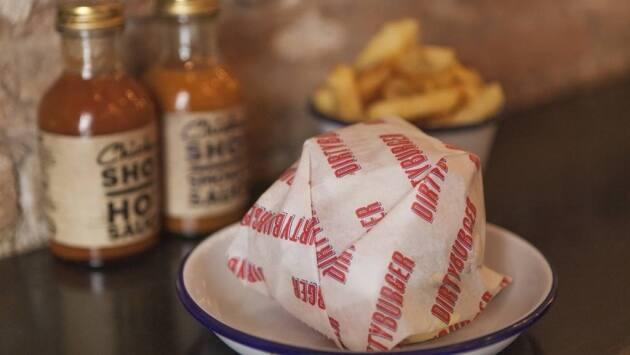 Hamburguesa de Chicken Shop-Dirty Burger