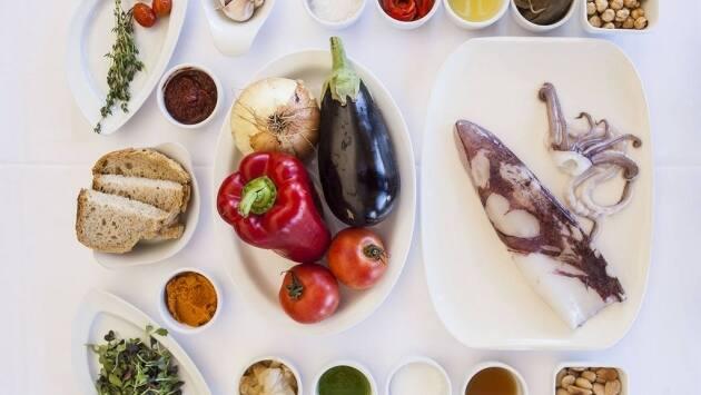 receta, Le Meridien Ra, calamar, escalivada