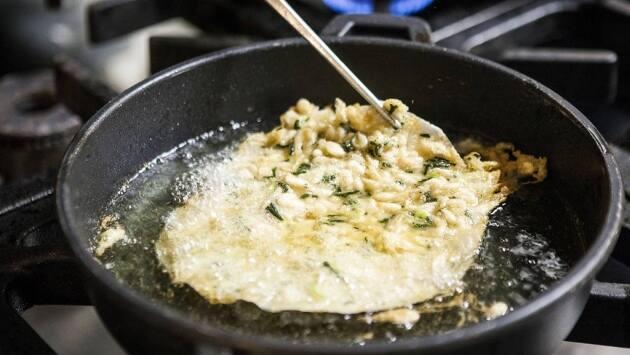 Quillo, tortilla de camarones, receta, restaurantes Barcelona