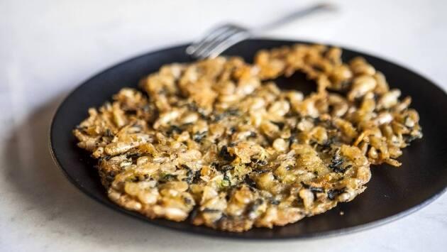 Receta de tortilla de camarones del restaurante Quillo