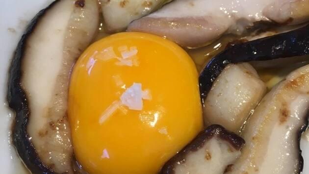 Boletus con huevo