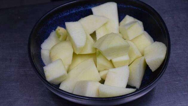 Caballa con ajoblanco de manzana
