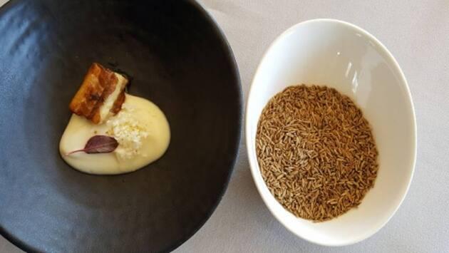 Crema de coliflor elaborado con comino