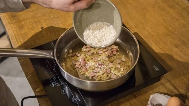Añadimos el arroz.