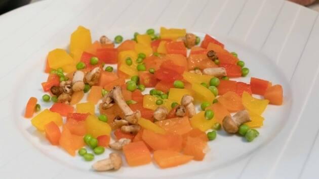 Las verduras son la base del plato.