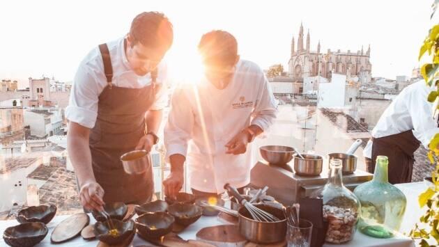 cena 4 manos, Albert Adrià y Andreu Genestra