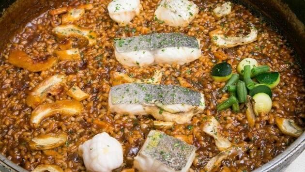 Arroz de señorito con pescado de lonja al minuto