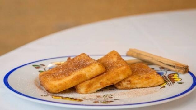 Leche frita castellana. Mesón de Fuencarral