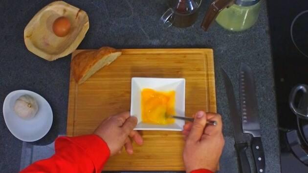 Receta sopa de ajos. Paso 8