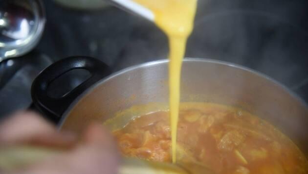 Receta sopa de ajos. Paso 9