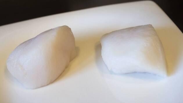 Espuma de patata con panceta confitada y vieiras del Restaurant Ca La Núria (Bellver de Cerdanya)