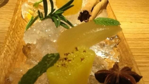 Xarab y frutas con licor