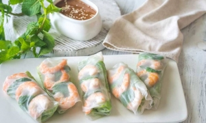 Rollos de verano, sanos y de inspiración asiática