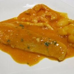 Suquet de lubina y gambas estilo Albufera, por El Gastrónomo