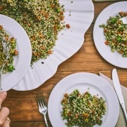 Revuelto de tofu con verduras