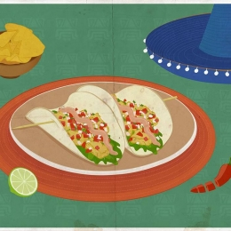 Tacos de pescado con pico de gallo, una receta con sabor a México