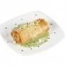 Cruixent de risotto amb crema d'espinacs i parmesà
