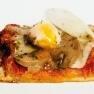 Pizza al taglio de huevo de codorniz